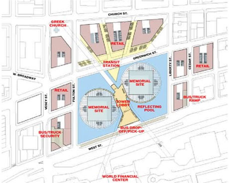 World trade center i due progetti finalisti per la for Disegni cottage e planimetrie